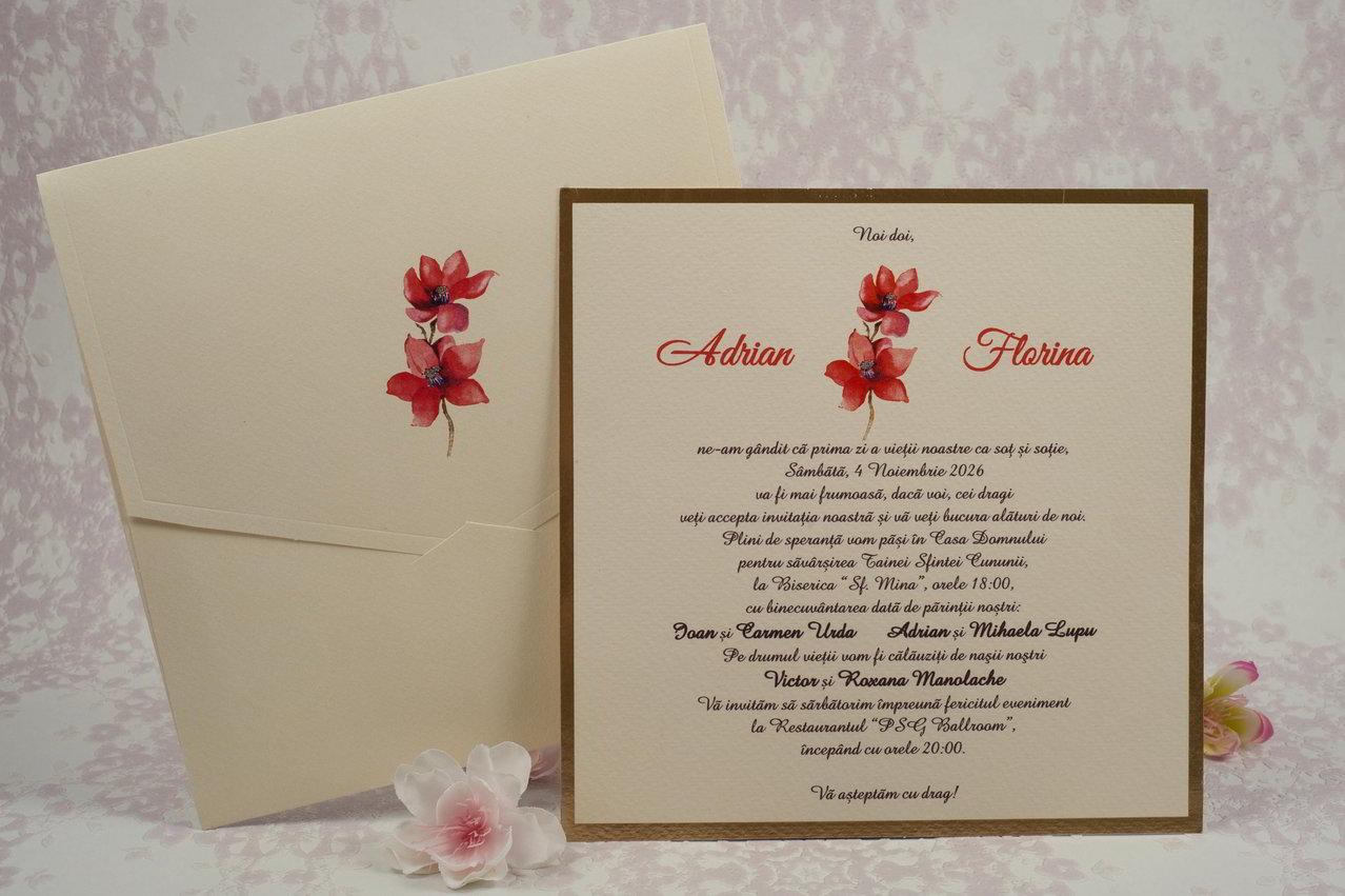 Invitatii Nunta Personalizate Stylish 2017 Print Digital Tipar