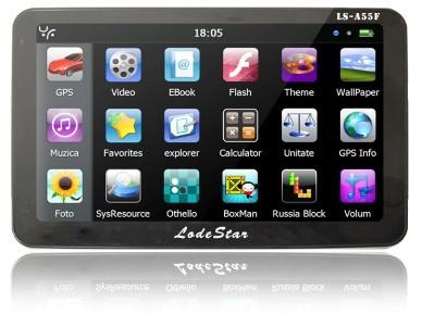 GPS Auto 5 inch LodeStar LS-A55F (iPhone GUI) – GPS Auto 5 inch LS ...