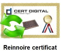 certificat digital calificat reinnoire