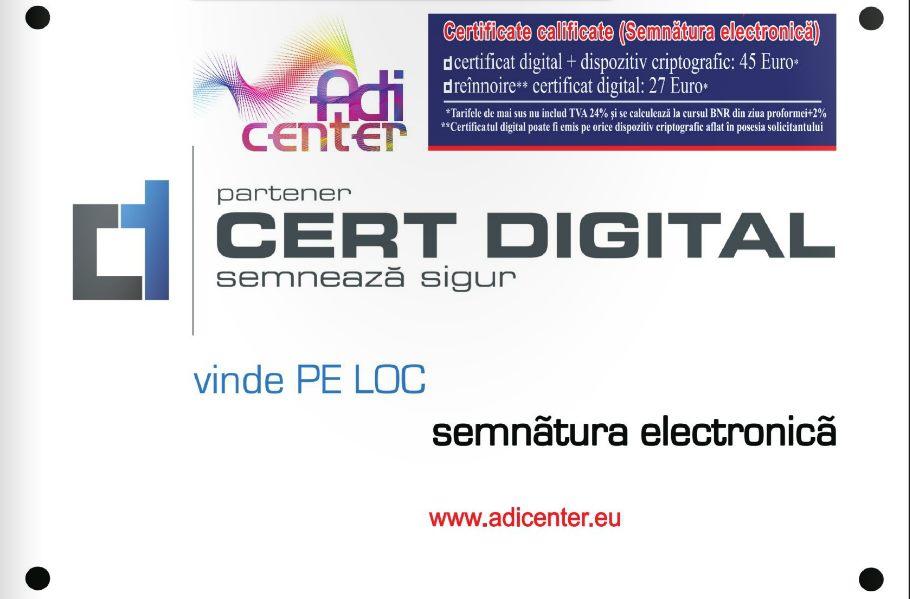 certificat digital calificat - reinnoire certificat digital calificat ANAF
