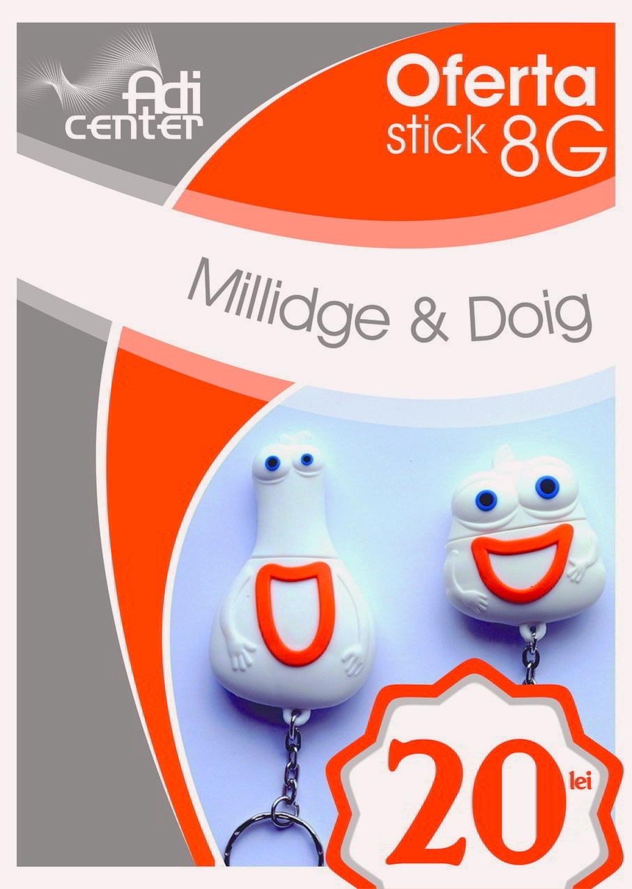 Orange Romania Memorie USB 8GB Millidge - Orange Romania Memorie USB 8GB Doig, Memorie USB 8 GB Millidge si Doig